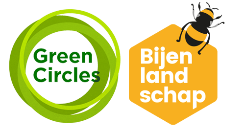 Logo Green Circle Bee Landscape