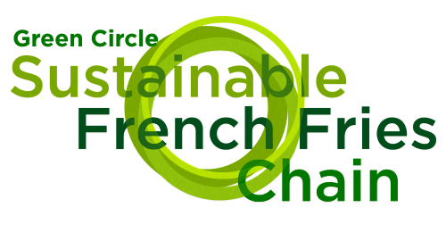 Logo Green Circle Sustainable French Fries Chain
